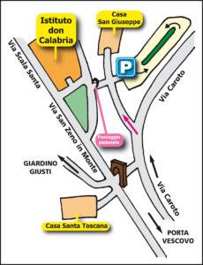 Come raggiungere l'istituto Don Calabria