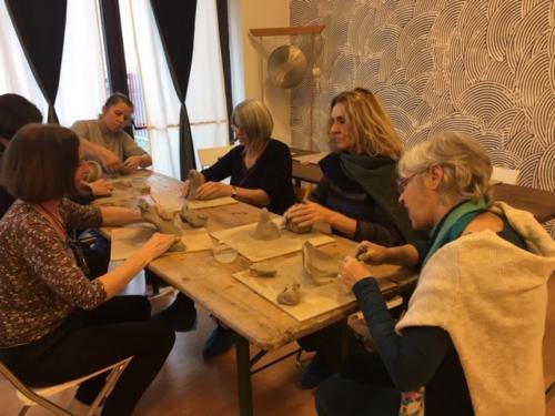 8 e 9 dicembre 2018 - attività plastica a cura di Flavia Rossignoli